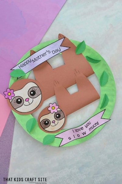 Adorable Sloth Craft for Mother's Day