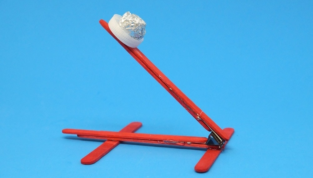 binder clip and popsicle stick catapult