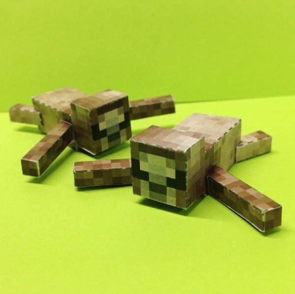 Papercraft Minecraft Sloth
