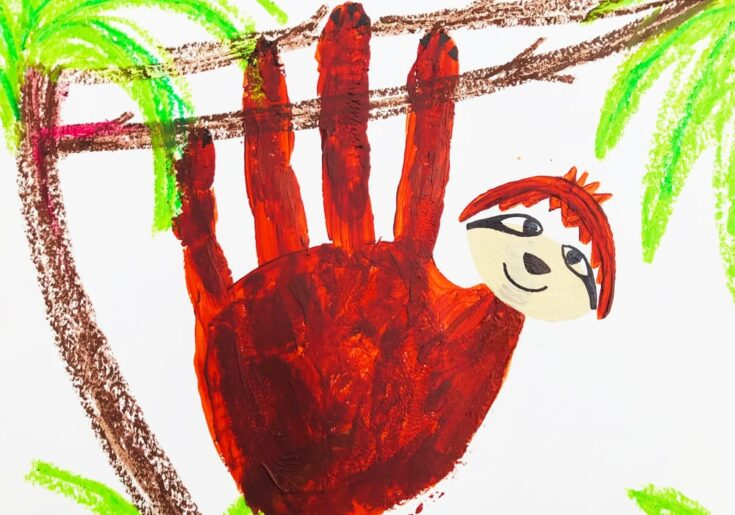 Super Hand Print Sloth for Littles