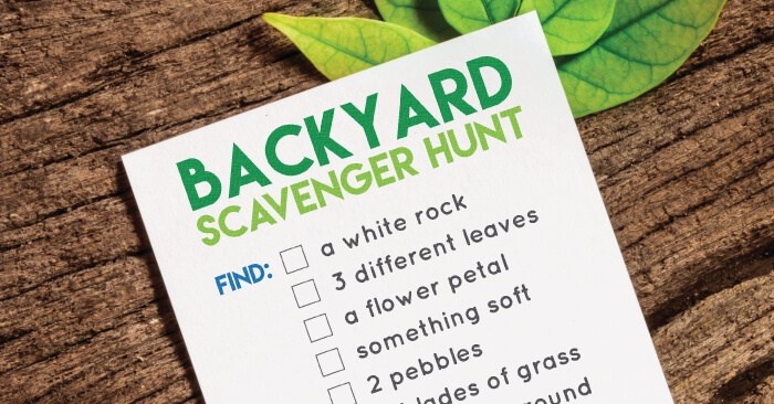 Scavenger Hunt Print Outs