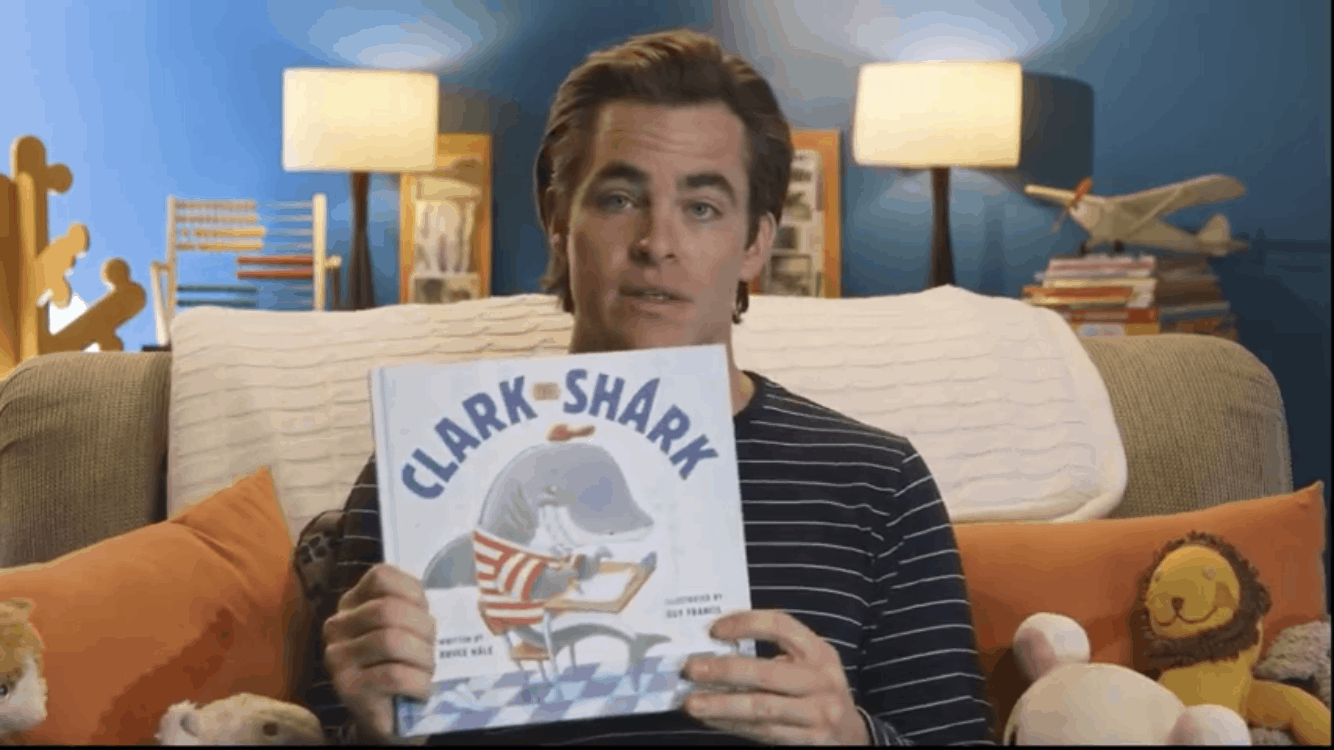 Chris Pine reads Clark the Shark