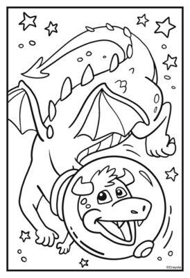 dragon in space helmet