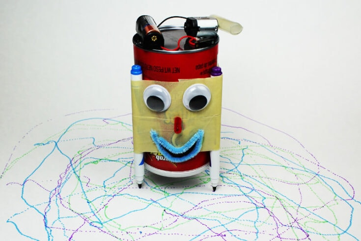Make A Tin Can Scribble Bot