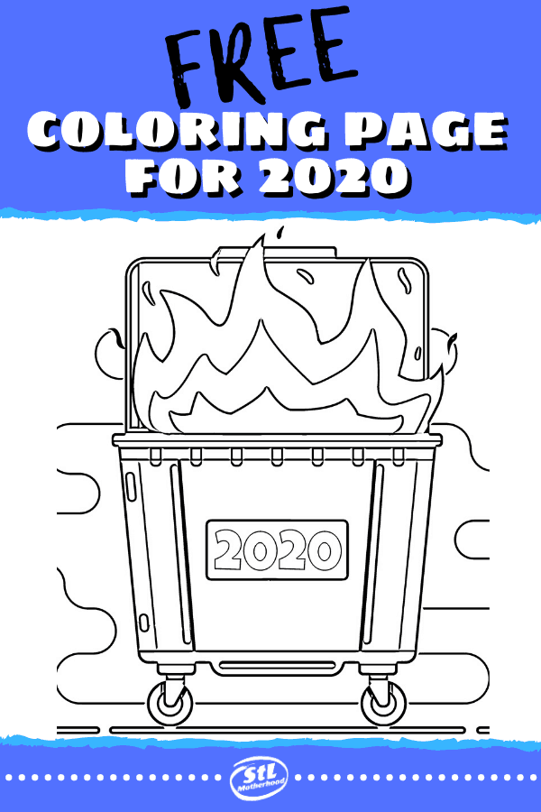 Bonus FREE coloring sheet to express how we're all feeling about 2020.
