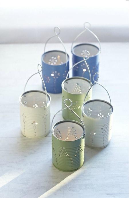 Making Lights: DIY Tin Can Lanterns