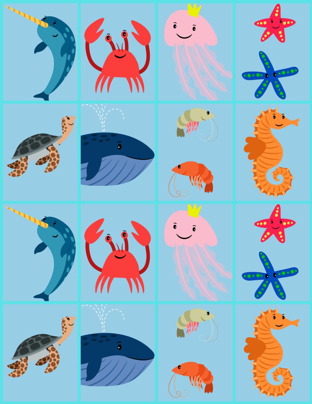 colorful sea creature memory card