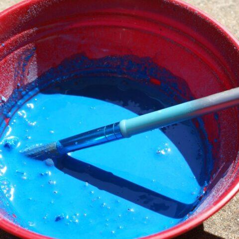 sidewalk chalk paint in blue
