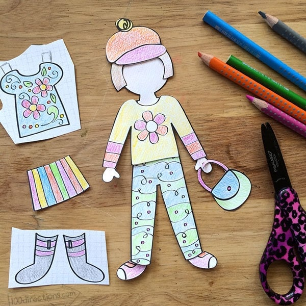 Printable Paper Doll and Kids Activity