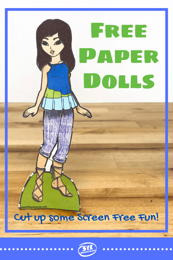 Seven places to find FREE printable paper dolls for future fashion designer kids! From very simple, DIY templates to super cool and detailed models. All paper dolls in the collection are of young people (kids & teens).