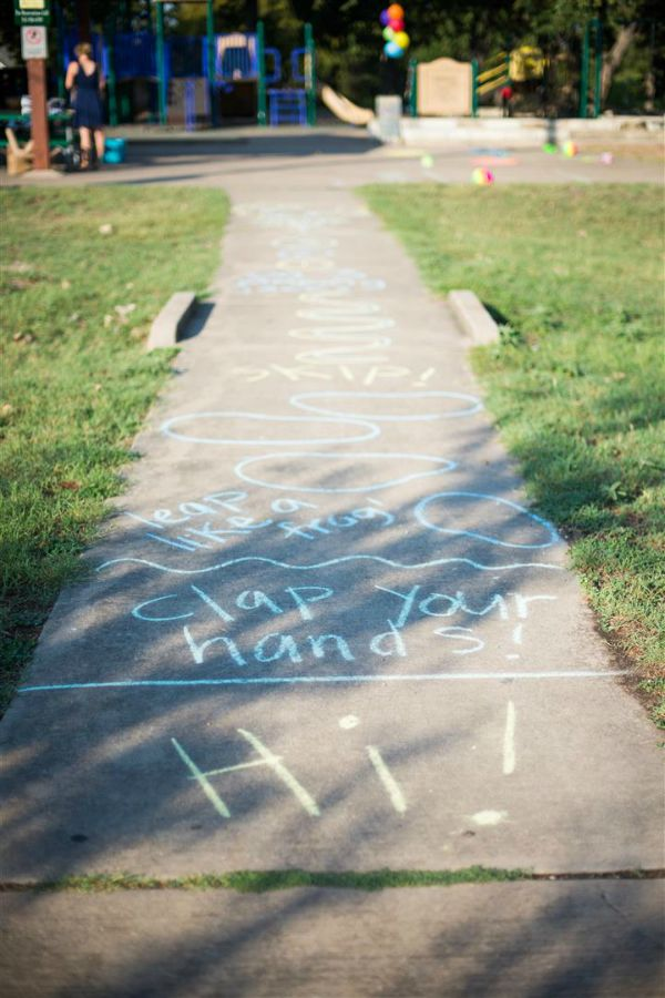 side walk chalk obstacle course