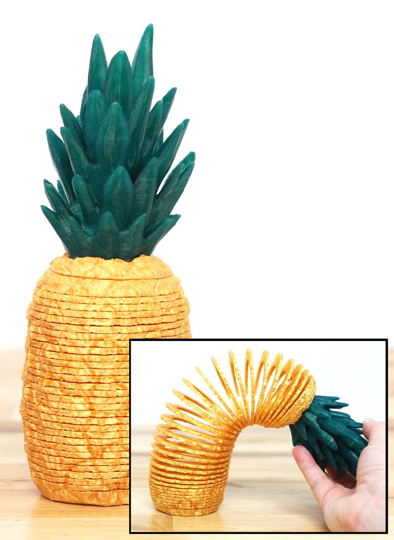 3d printed pineapple springo (slinky)