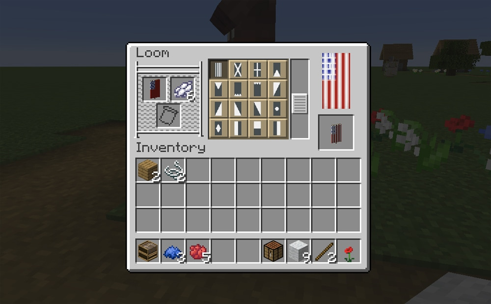 final step Minecraft American flag