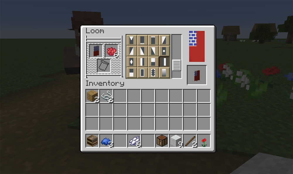 Minecraft American flag banner directions