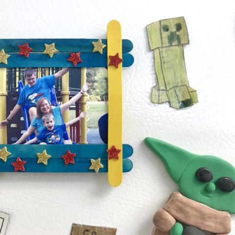 easy Popsicle stick photo frame