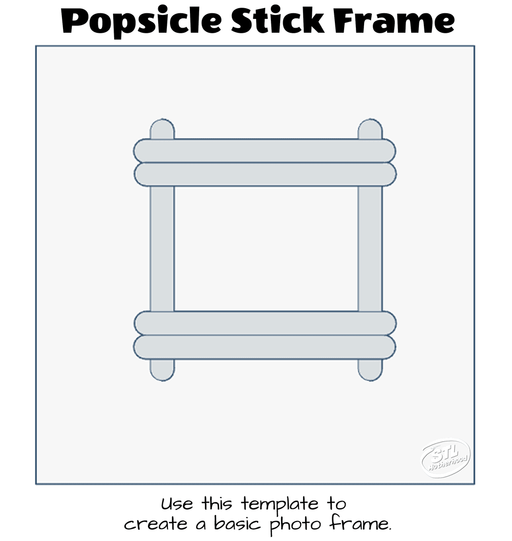 printable template for making a popsicle stick picture frame
