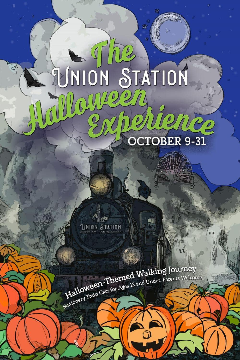 flyer announcing the St. Louis Union Station Halloween Experience