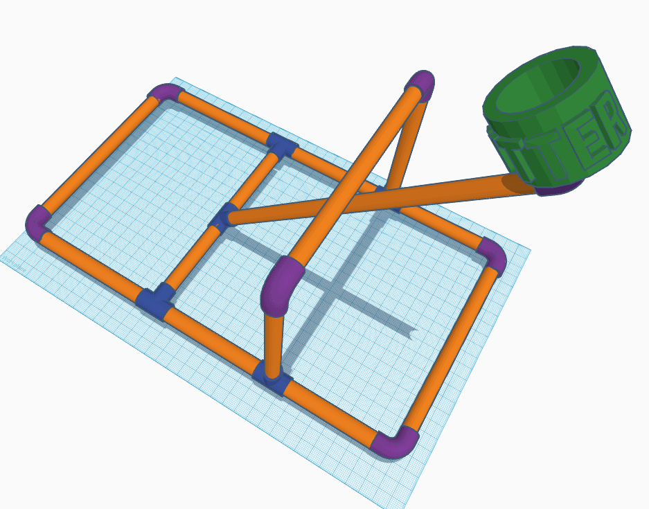 blueprint of catapult made of pvc pipe