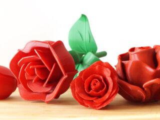 3d printed red roses