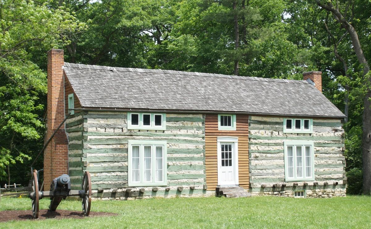 log cabin build by President Ulysses S. Grant
