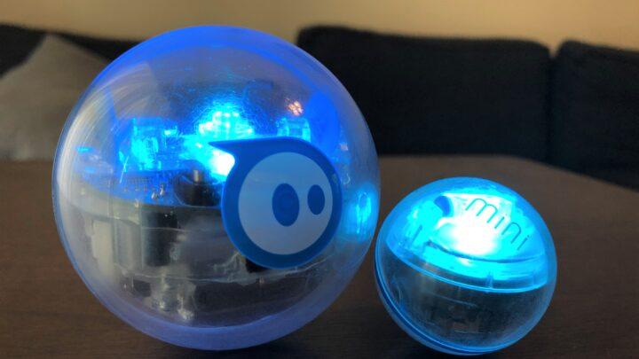 sphero robotic balls with blue lights
