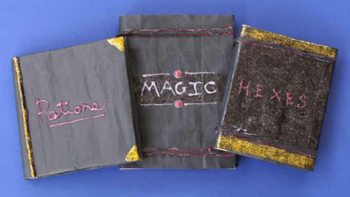 spell book covers for Halloween